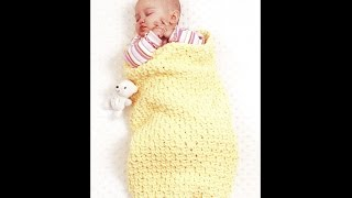 Baby Gifts to Love Bernat Yarn Crochet Patterns Book Preview Blankets, Cocoon, Hat