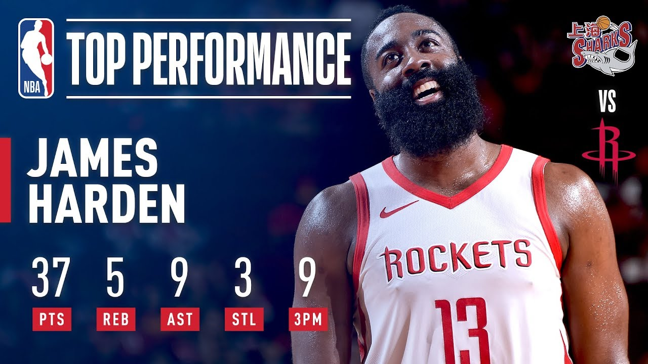 James Harden Knocks Down 9 Three Pointers and Pours in 37 Points for Houston | 2018 NBA Preseason