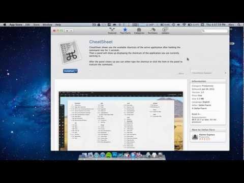CheatSheet for Mac