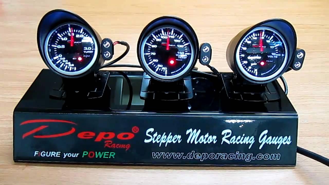 Depo Racing Gauge : Depo racing gauge performance pk series youtube