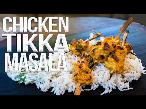 Grilled Chicken Tikka Masala Recipe | SAM THE COOKING GUY 4K