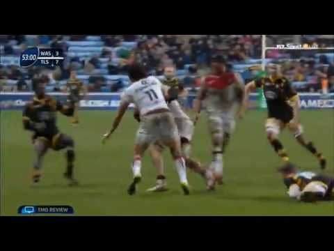 Christian Wade Dump Tackles a Number 8! Wasps v Toulouse