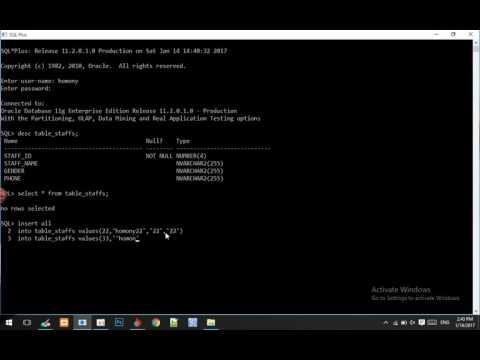 How To Insert Multiple Rows In Oracle Database - krumony