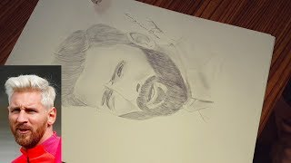 How to draw lionel Messi step by step / كيف ترسم ليونيل ميسي خطوة بخطوة