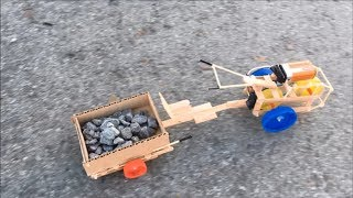 DIY Two-Wheeled Tractor with Trailer