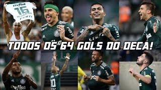 Todos os 64 gols do Palmeiras na conquista do Deca Campeonato Brasileiro 2018 (HD)
