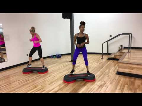 32 Minute Cardio: Intermediate Step Workout with Karla Luster