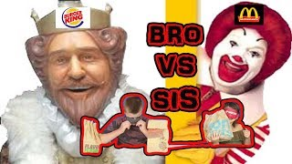Fast Food Challenge Bro Vs Sis
