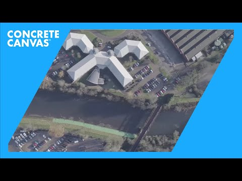 Concrete Canvas (CC) Slope Protection Installation - River Taff, Wales, UK