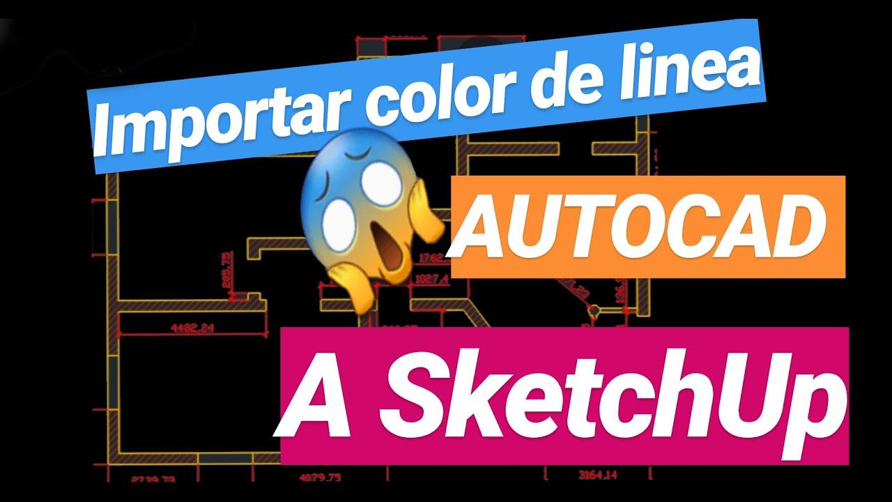 Color de lineas de autocad en sketchup youtube for Mobilia para sketchup 8