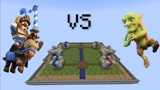 Minecraft CLAY SOLDIERS CLASH ROYALE! • Prince VS Goblins!