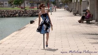 Repeat youtube video Amputee Nina is walking with her pegleg