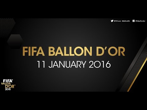 WATCH LIVE: FIFA Ballon dOr 2015 - THE DATE IS SET....