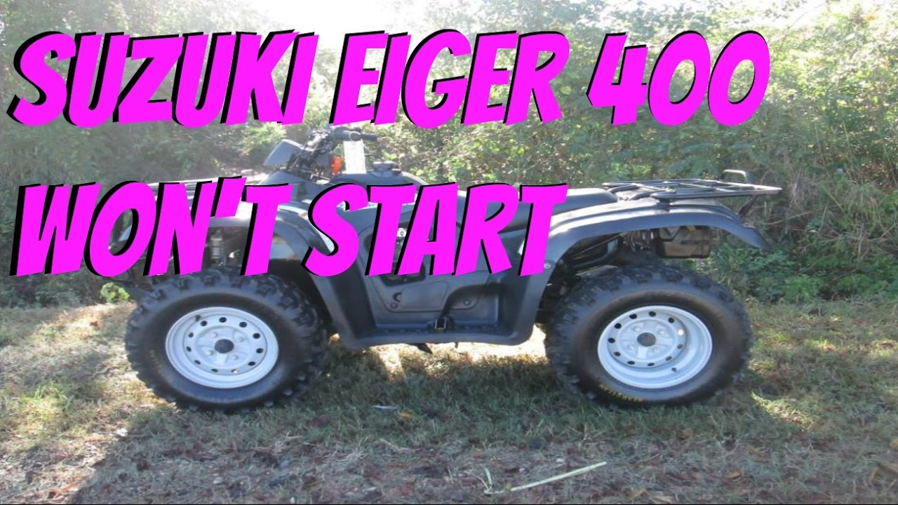 Suzuki Eiger 400 Won\'t Start (LT-F400 Will Not Start) - YouTube