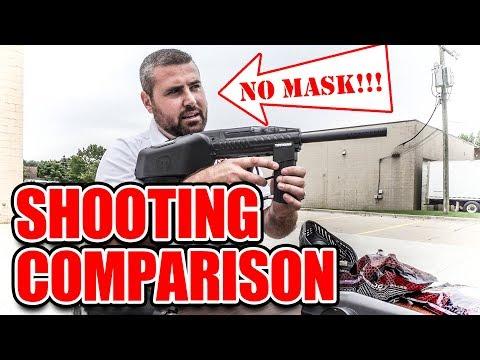 Comparing The Tippmann A-5 To The Tippmann Raider | Shooting Paintball Gun Comparison Video