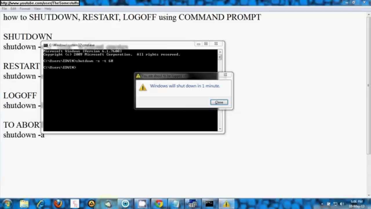 restart remotely command line