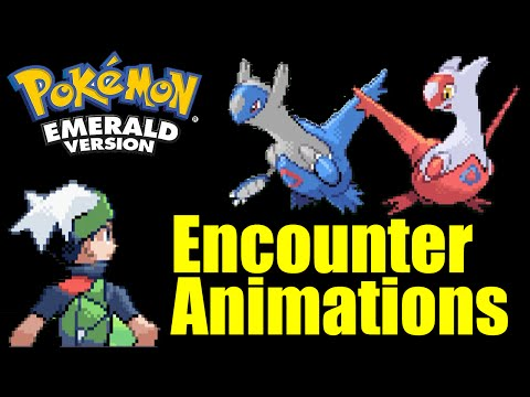 All 386 Pokemon Battle Encounter Animations In Pokemon Emerald (With Cries, No Music)