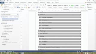 Word 2013 - Wie erstelle ich ein Inhaltsverzeichnis