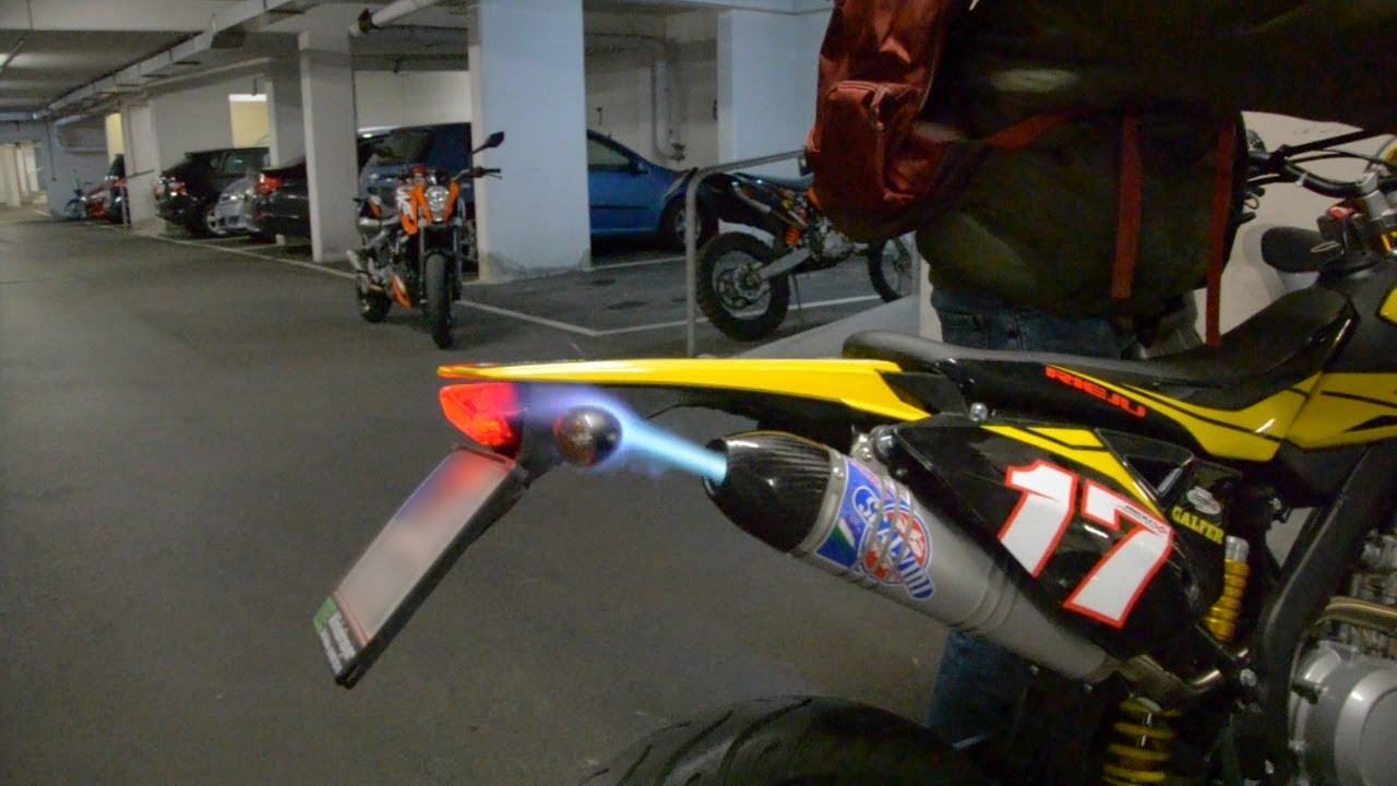 Flamethrower | Rieju Marathon 125 | SCALVINI Racing Exhaust | Sound, Pops &  Crackles