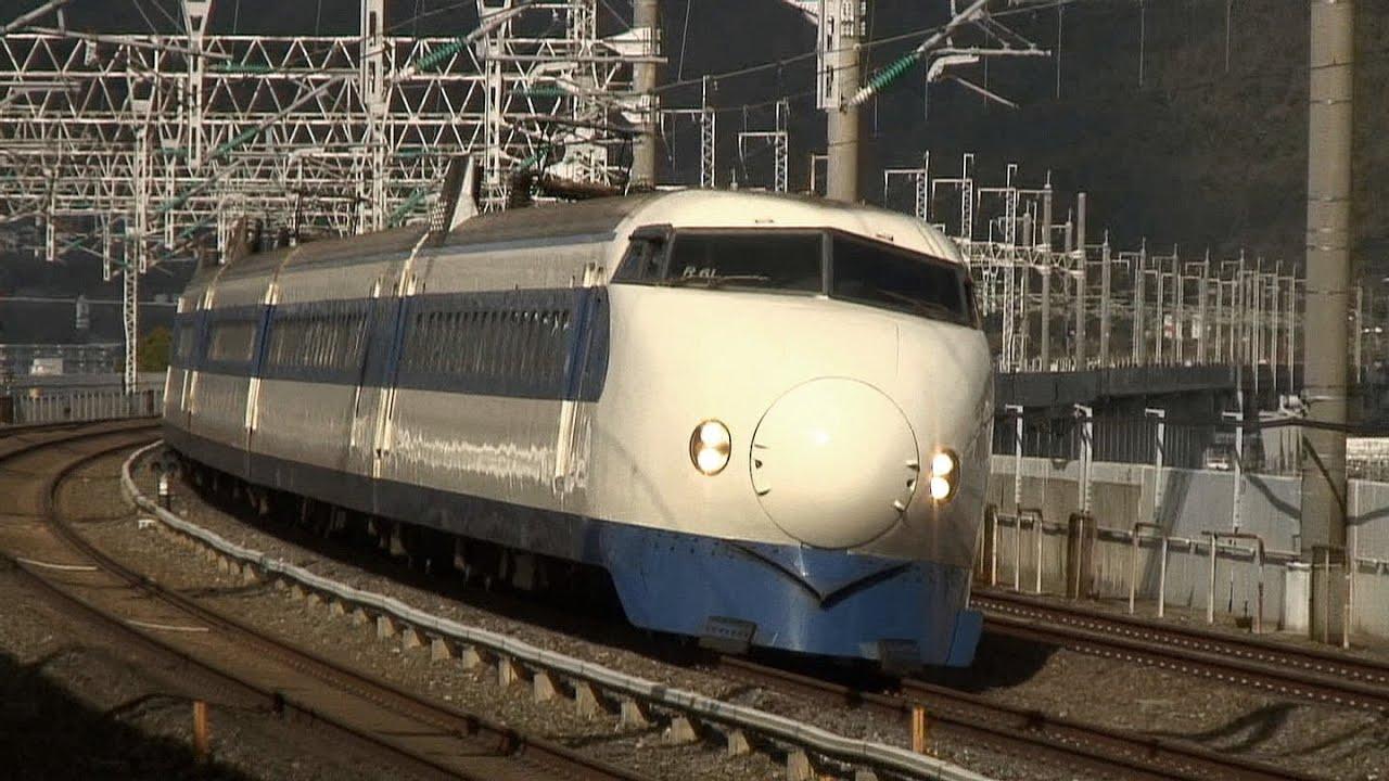 Japanese Bullet Train High Speed Passage