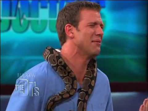 Dr. Travis faces his Fear of Snakes on 'The Doctors'