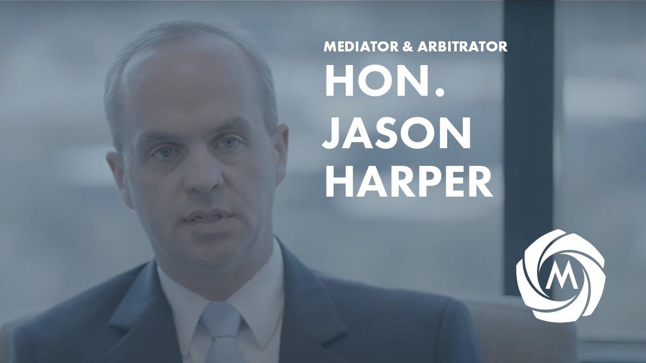 Mediator & Arbitrator Hon. Jason Harper video
