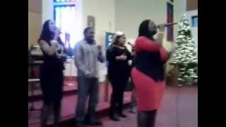 Lashell singing at Integrity Life Church, Federal Way, WA