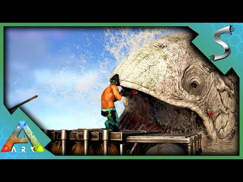 HARPOON GUNS & MOTOR BOAT VS ALPHA LEEDSICHTHYS! NEW TOILET! - Ark: Survival Evolved [S3E119]