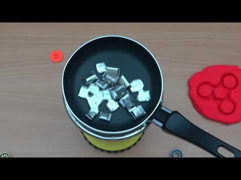 DIY Metal Fidget Spinner Play Doh Mold