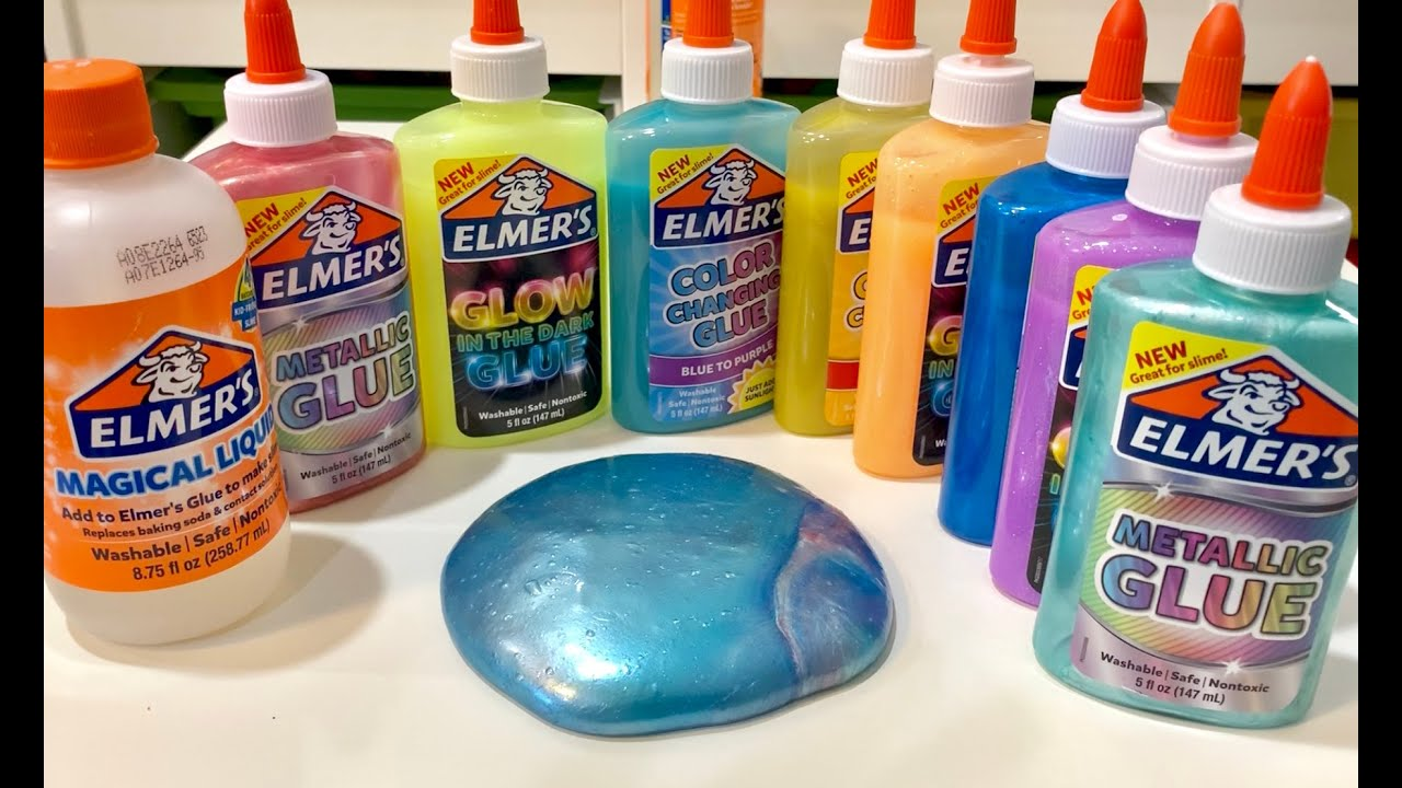 How To Make Creative Slime With Elmer S Glue Easy To Make Slime