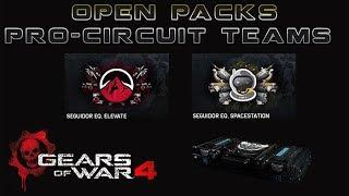 "Gears of War 4 l Open packs Pro Circuit Team l  "" Spacestation & Elevate "" l 1080p Hd"