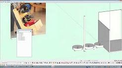 Pancake Air compressor cart SketchUp 8
