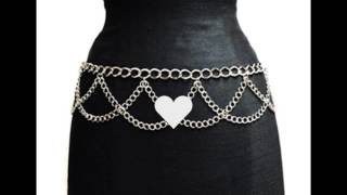NYfashion101 Trendy Belly Chain Belt w by  Multi Link Chains IBT1002-Silver
