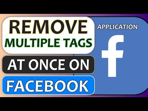 Remove Multiple Tags At Once From Posts/Photos/Videos You Are Tagged In Facebook App