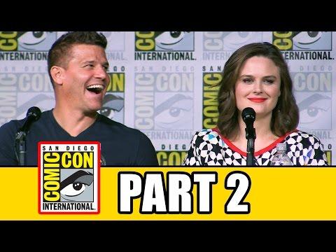BONES Season 12 Comic Con Panel (Part 2) Emily Deschanel, David Boreanaz, TJ Thyne, Michaela Conlin