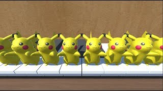 Pikachu singing and playing Happy Birthday on Piano