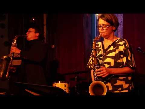 David Leon & Ingrid Laubrock - saxophone duo - at The Owl - Nov 29 2018