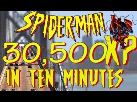 SPIDER-MAN PS4 - FASTEST XP Farming past Lv 50 | 3,050XP in 75 seconds