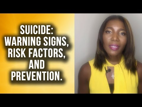 Suicide Warning Signs, Risk Factors and Prevention