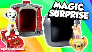 Paw Patrol Marshall & Skye Magical Surprise Pup House + Disney Cars Toy Shopkins & Surprise Toys