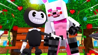 Minecraft Fnaf Daycare: Mangle Falls In love With Bendy...Again?! (Minecraft Daycare)