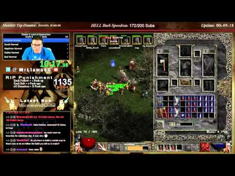 Diablo 2 - 8 MAN BARBARIAN HARDCORE SPEEDRUN!