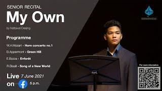"""My Own"" Senior Recital   Nattawat Deejing"