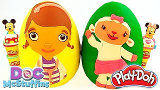 Huge Play Doh Surprise Eggs Doc McStuffins&Lambie |Learn Colours with  Doc McStuffins and Play Doh