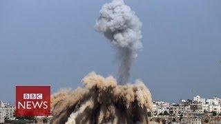 Israeli air-strikes kill 25 in Gaza & Hamas fires rockets into Israel - BBC News