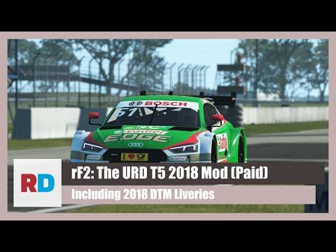 rFactor 2: The URD T5 2018 Mod & DTM Livery Pack (PAID