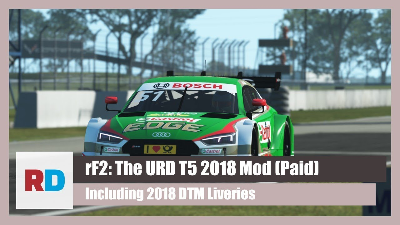 rFactor 2: The URD T5 2018 Mod & DTM Livery Pack (PAID)