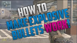 MW2: How to get explosive bullets to work on a CFG menu! zMarcusHD
