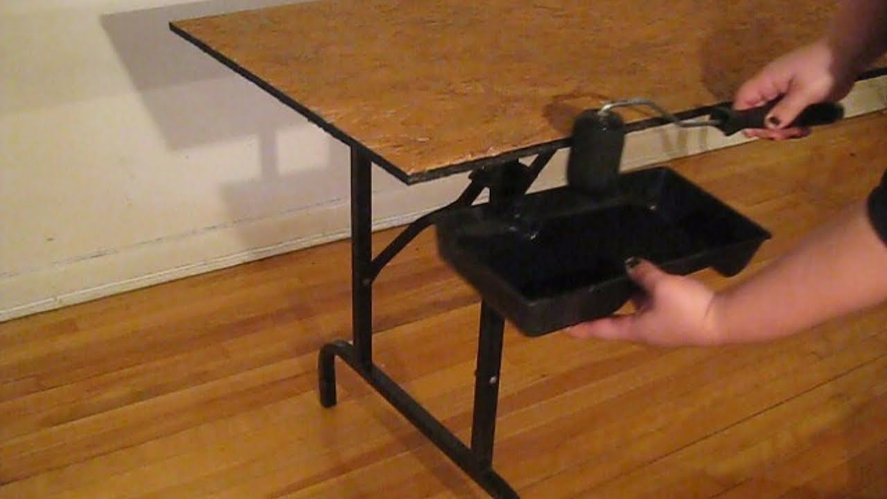 what are wwe chairs made of high chair toddler how to make a table for wrestling by miniak from chw backyard youtube