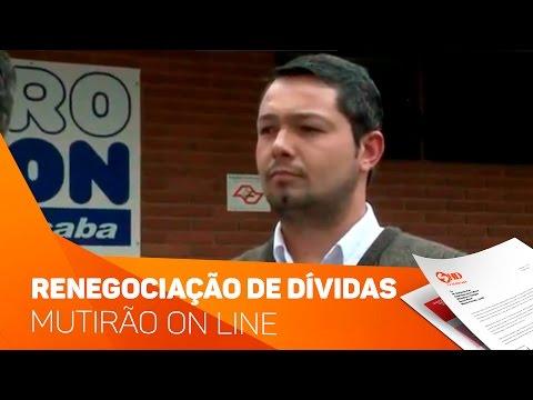 Mutirão on line de renegociação de dívidas - TV SOROCABA/SBT